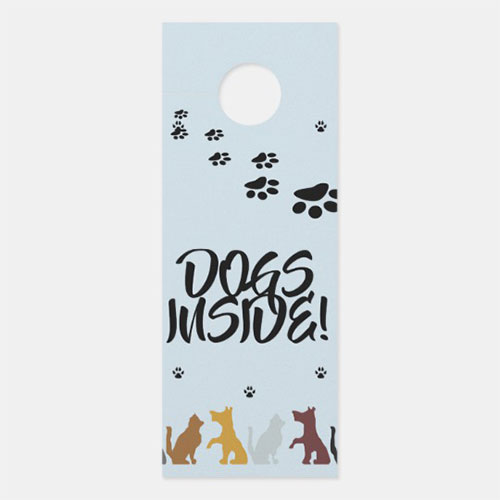Dogs Inside Door Hanger