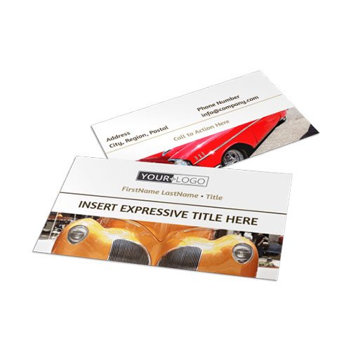 Elegant Car Show Business Card